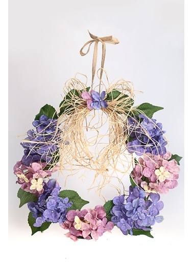 Kibrithane Çiçek Kapı Süsü Yapay Ortanca Aranjman Kc00200824 Renkli